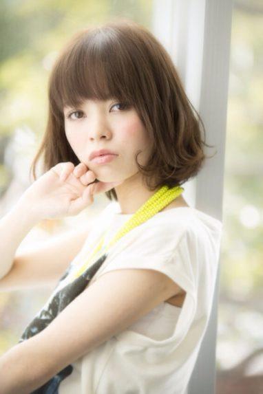 小顔カット☆カジュアル☆フェミニンボブの画像です
