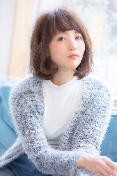 ふんわりラフ☆甘可愛いミディボブの画像です