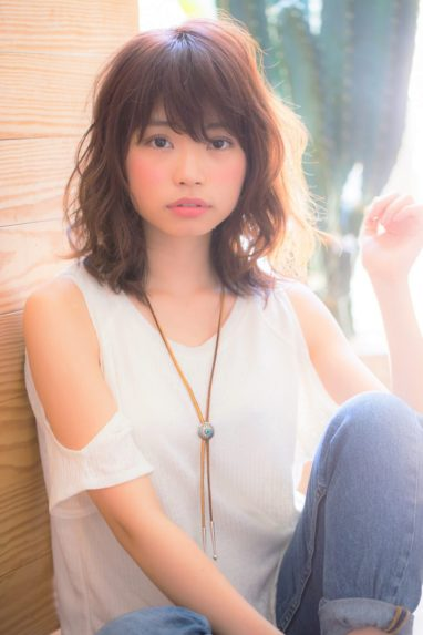 ゆるふわが大人可愛い☆小顔セミディの画像です